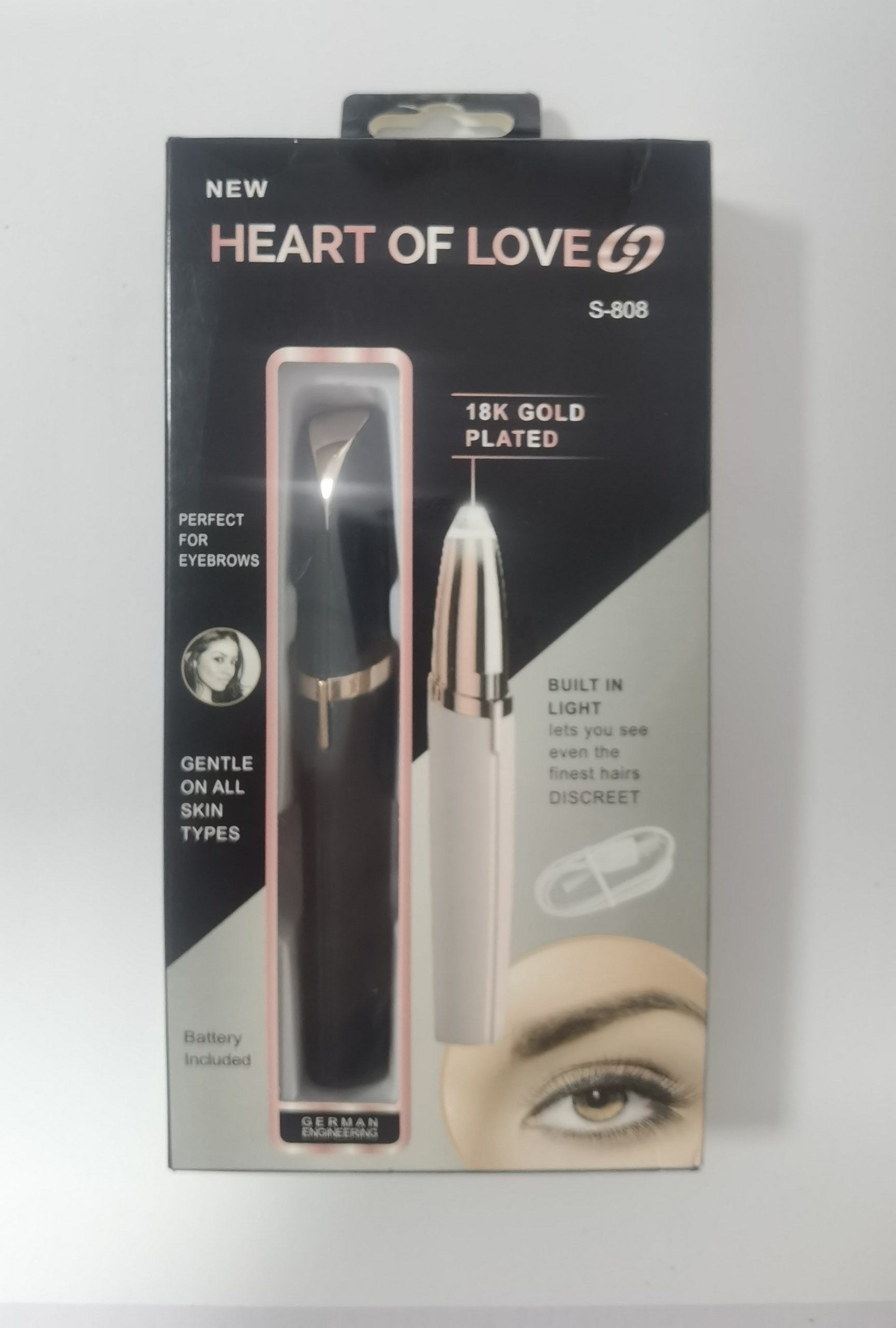 Mini Electric Eyebrow Trimmer Lipstick Brows Pen Hair Remover Painless Razor Epilator with LED Light allinonehere.com