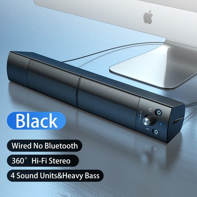 Small Speaker Subwoofer USB with Microphone Bluetooth Wired Universal allinonehere.com