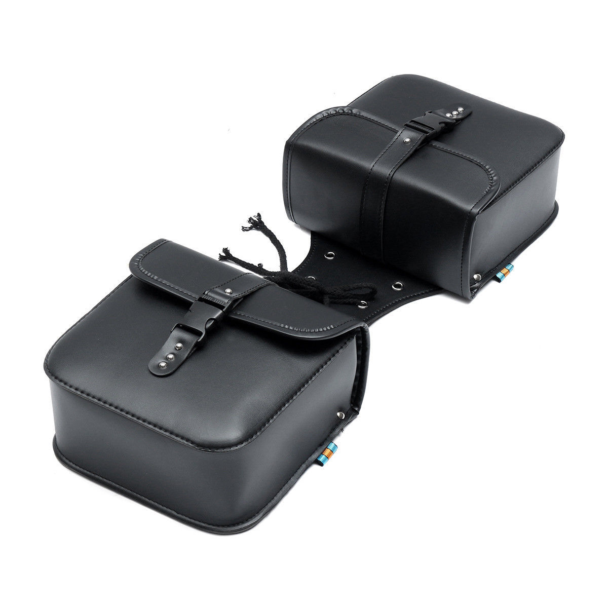 2Pcs Universal Motorcycle Saddle Tool Bag Side Pannier Luggage Bags PU Leather allinonehere.com